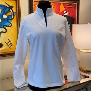 Nike Golf Half Zip White Jacket NikeDry